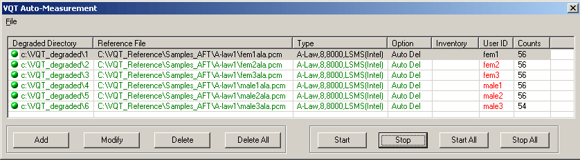 in ordinate delay
