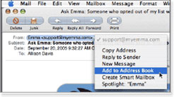 how to add email to safe sender list on ipad