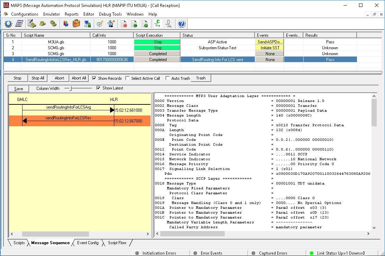 MAPS™ MAP Emulator (Mobile Application Part Emulation over