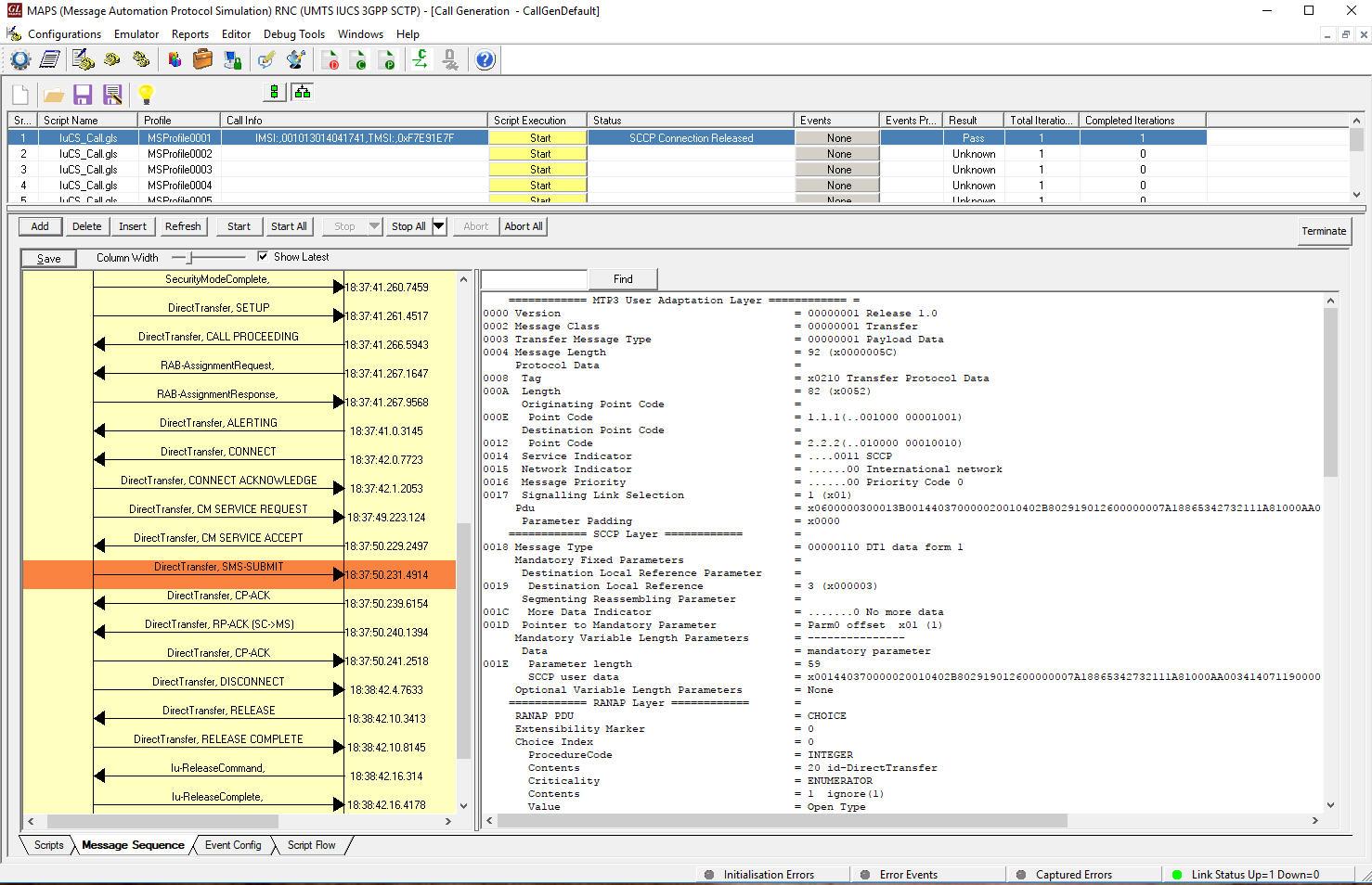 MAPS™ UMTS for IuCS, IuH Interfaces Emulator (IuCS Emulation