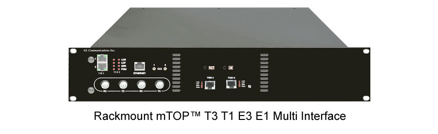 Rackmount mTOP� T3 T1 E3 E1 Multi Interface