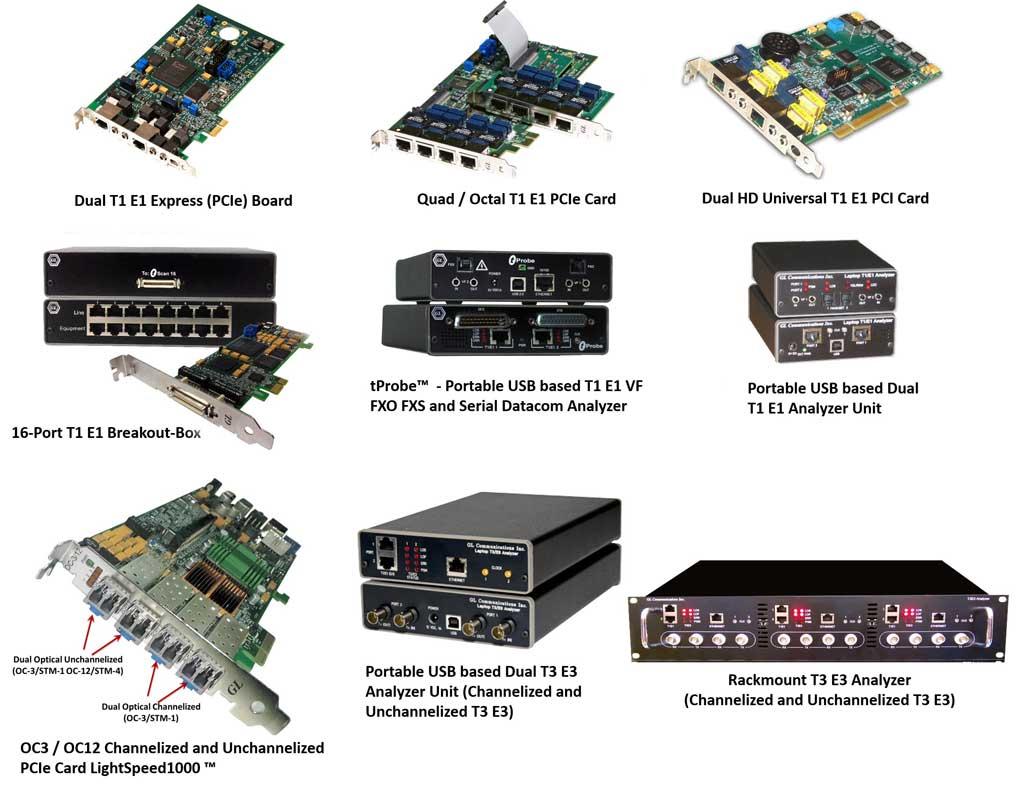 GL Enhances T1 E1 Emulation / Analyser Products & Software